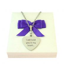 Engraved Heart Necklace for a Woman